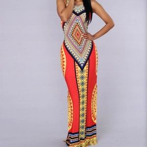 Fashion Nova aztec maxi dress